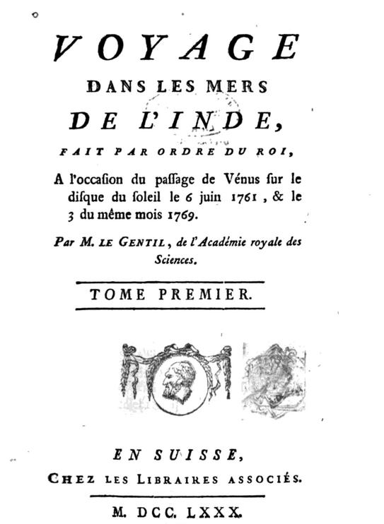 Guillaume Le Gentil - il diario di viaggio dell'astronomo francese